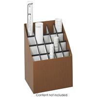 Safco Upright Roll File Organizer, Walnut