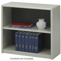 Safco 2-Shelf ValueMate Economy Bookcase, Grey