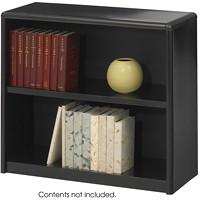 Safco 2-Shelf ValueMate Economy Bookcase, Black
