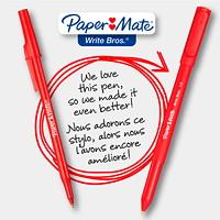 Paper Mate Ballpoint Stick Pens, Red, Medium 1.0 mm