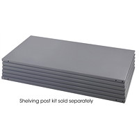 Safco Heavy-Duty Commercial Steel Shelving Pack, 5 Shelves, Grey, 48