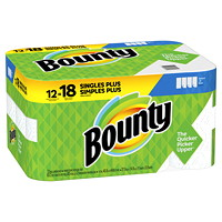 Bounty 2-Ply Select-A-Size Paper Towels 12=18, White, 83 Sheets/RL, 12/CS