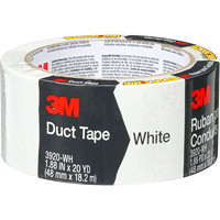 3M 3920 General Purpose Duct Tape, White, 48 mm x 18.2 m