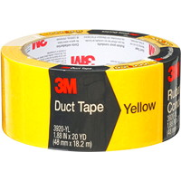 3M 3920 General Purpose Duct Tape, Yellow, 48 mm x 18.2 m
