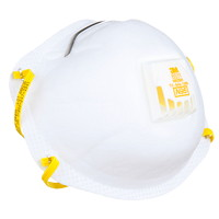 3M 8511 N95 Cool Flow Sanding and Fibreglass Disposable Respirators, Valved, White, 10/PK