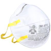 3M 8210 N95 Disposable Particulate Respirator, Non Valve, White, 2/PK