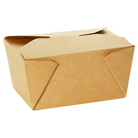 IECO Take Out Food Box Containers, Kraft, Size #8, 15 1/5