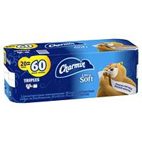 Charmin 2-Ply Ultra Soft Bathroom Tissue 20=60, White, 198 Sheets/Roll, 20/CS