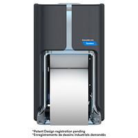 Distributeur de papier hygiénique haute capacité à deux rouleaux Tandem Cascades PRO, gris foncé