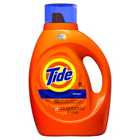 Tide High Efficiency (HE) Turbo Clean Liquid Laundry Detergent, 2.72 L (64 Loads)