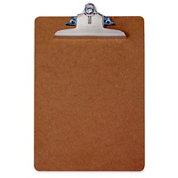 Saunders Hardboard Clipboard, Brown, Letter Size