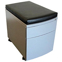 HDL Seat Cushion, Black Polyurethane, 15 1/4