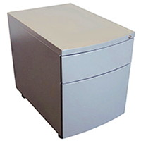 2-DRAWER METAL MOBILE PEDESTAL