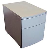 HDL Metal Mobile Pedestal, 2-Drawer, Titanium, 15 1/2