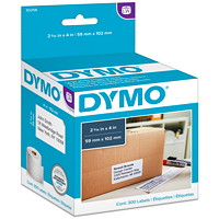 DYMO LabelWriter Large Shipping Thermal Labels, White, 2 5/16