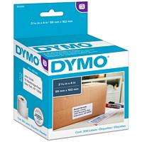 Grandes étiquettes d'expédition LabelWriter DYMO, blanc, 25/16po x 4po, roul. de 300 étiquettes