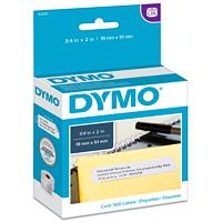 Étiquettes d'adresse retour LabelWriter DYMO, blanc, 3/4po x 2po, roul. de 500 étiquettes