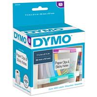 Étiquettes moyennes à usages multiples LabelWriter DYMO, 21/4po x 11/4po, roul. de 1000 étiquettes