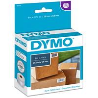 Petites étiquettes à usages multiples LabelWriter DYMO, 1po x 21/8po, roul. de 500 étiquettes