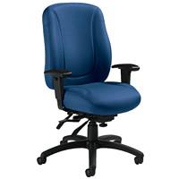 Global Overtime High-Back Multi-Tilter Ergonomic Chair, Admiral Blue, Jenny Fabric