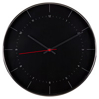 VICTOR 14IN WALL CLOCK BLK