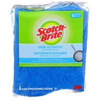 Scotch-Brite Non-Scratch Scrub Sponge, 6/PK