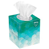 Kleenex 2-Ply Cube Box Facial Tissue, White, 95 Sheets/BX