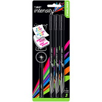 BIC Intensity Fineliner Porous Tip Pens, Black, Fine 0.4 mm, 3/PK