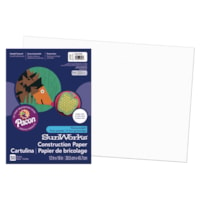 Pacon SunWorks Heavyweight Construction Paper, White, 12