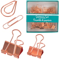 Merangue Stationery Set, Rose Gold