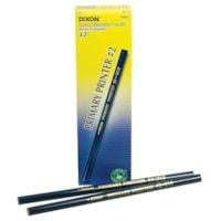 Dixon Primary Printer #2 Thick Black Lead Pencils, Blue Barrel, Intermediate Size 11/32