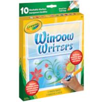 Marqueurs lavables pour fenêtres Window Writers Crayola, couleurs variées, emb. de 10