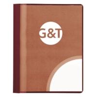 Couvertures de présentation avec avant en acétate transparent Grand & Toy, rouge foncé, format lettre, boîte de 25