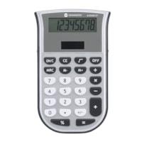 Calculatrice compacte Grand & Toy, argent et gris, affichage à 8 chiffres