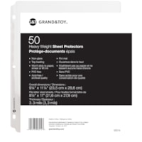 Grand & Toy Heavyweight Sheet Protectors, Non-Glare, Letter Size, 50/PK