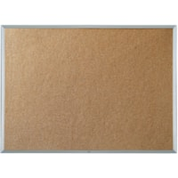 Quartet Economy Cork Bulletin Board, Aluminum Frame, 36