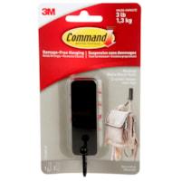 Crochet Command, noir mat, format moyen, capacité de 3 lb