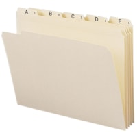 Smead Indexed Folder Set, Manila, Alphabetic (A-Z), Reinforced 1/5-Cut Tab, Letter Size, 25/ST