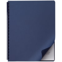 Swingline GBC Linen Weave Presentation Covers, Navy, 50/PK