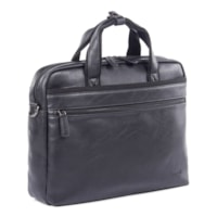 Bugatti Vegan Leather Laptop Briefcase, Black