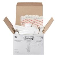 Command Wire Toggle Hooks, White, Large, 5 lb Capacity, 14 Hooks/24 Strips
