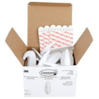 Command Designer Hooks, White, Large Size, 5 lb Capacity, 16 Hooks/24 Strips