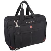 SwissGear Top-Loading Messenger Bag, Black, Fits Laptops up to 17.3