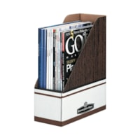 Porte-revues à résistance maximale d'aspect bois Bankers Box