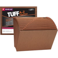 Smead TUFF 21-Pocket A-Z Expanding Files, Redrope-Printed Stock, Letter-Size