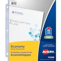 Avery Economy Sheet Protectors, Non-Glare, Letter Size, 50/PK