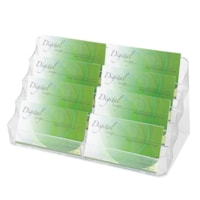 Grand & Toy Business Card Holder, 8-Pocket, Clear