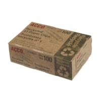 Trombones recyclés nº 1 Acco, 1 1/4 po, argent, boîte de 100