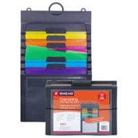 Smead Cascading 6-Pocket Wall Organizer Gen 2, Grey/Bright, Letter-Size