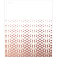 Avery Twin-Pocket Folder with 3-Prong Fasteners, White with Metallic Blush